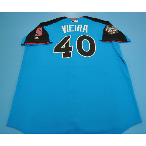Photo of Game-Used Batting Practice Jersey - 2017 All-Star Futures Game - Thyago Vieira - Size 50 - Only Worn During Batting Practice