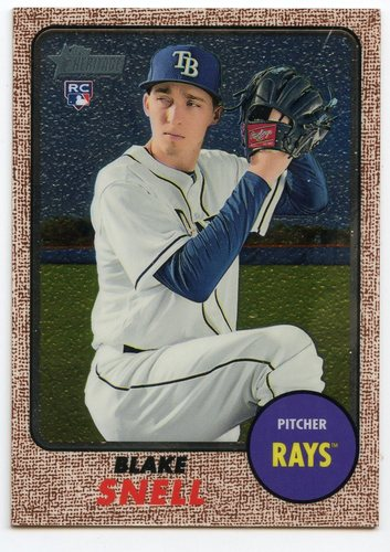 Photo of 2017 Topps Heritage Chrome #THC601 Blake Snell