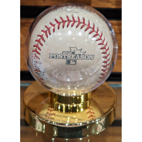 Photo of 2013 ALCS Game 6 October 19, 2013 Red Sox vs. Tigers Game Used Baseball