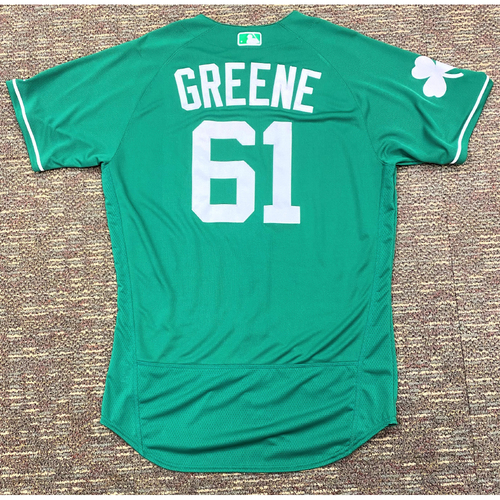Shane Greene #61 Detroit Tigers Team-Issued 2019 St. Patrick's Day Jersey (MLB AUTHENTICATED)