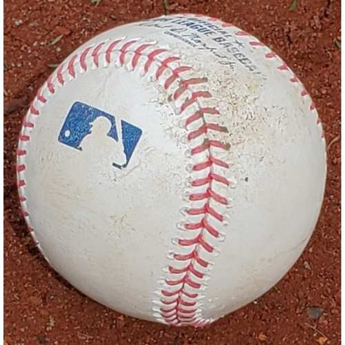 Photo of 2021 Phillies Game-Used Opening Day Baseball - Jose Alvarado Strikeout and Hit by Pitch