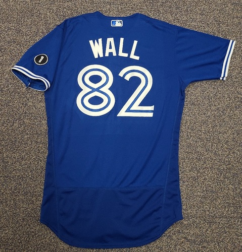 Photo of Authenticated Team Issued Jersey: #82 Forrest Wall (2020 Season). No Set. Size 42.