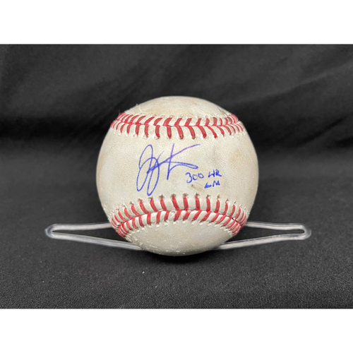 Photo of Joey Votto *Game-Used, Autographed & Inscribed* Baseball from 300th Career HR Game - Jake Arrieta to Nick Castellanos (Fly Out); to Joey Votto (Double) -- 04/30/2021 - CHC vs. CIN - Bot 1