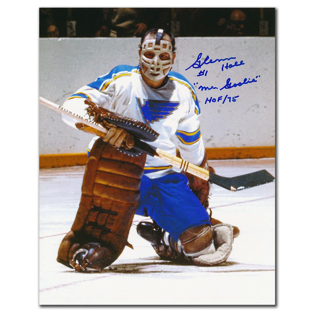 Glenn Hall St. Louis Blues Mr. Goalie HOF Autographed 8x10