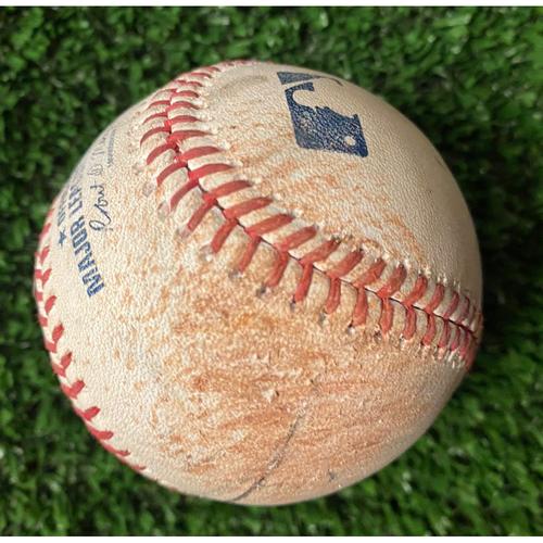 Photo of Game Used Baseball - Pitcher: Corey Knebel, Batter: Freddie Freeman (Strike, Ball, Foul Tip, Foul) - 10/16/21 NLCS Game 1