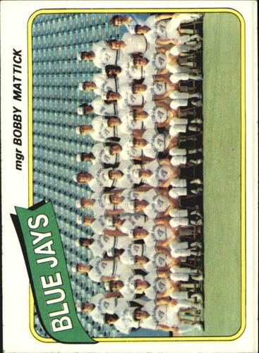 Photo of 1980 Topps #577 Toronto Blue Jays CL/Bobby Mattick MG