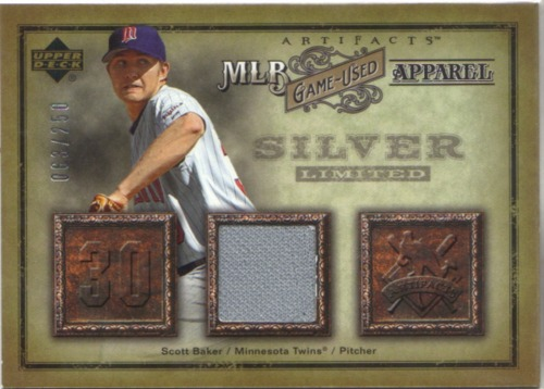 Photo of 2006 Artifacts MLB Game-Used Apparel Silver Limited #SB Scott Baker Jsy/250