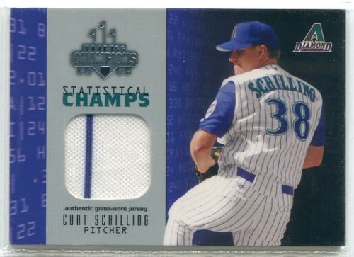 Photo of 2003 Donruss Champions Statistical Champs Materials #3 Curt Schilling Jsy/225