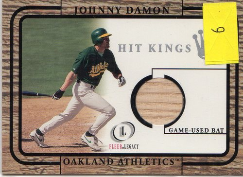 Photo of 2001 Fleer Legacy Hit Kings #9 Johnny Damon