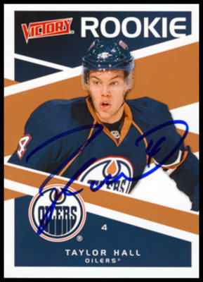 2010 UD Victory TAYLOR HALL Autographed Rookie Card