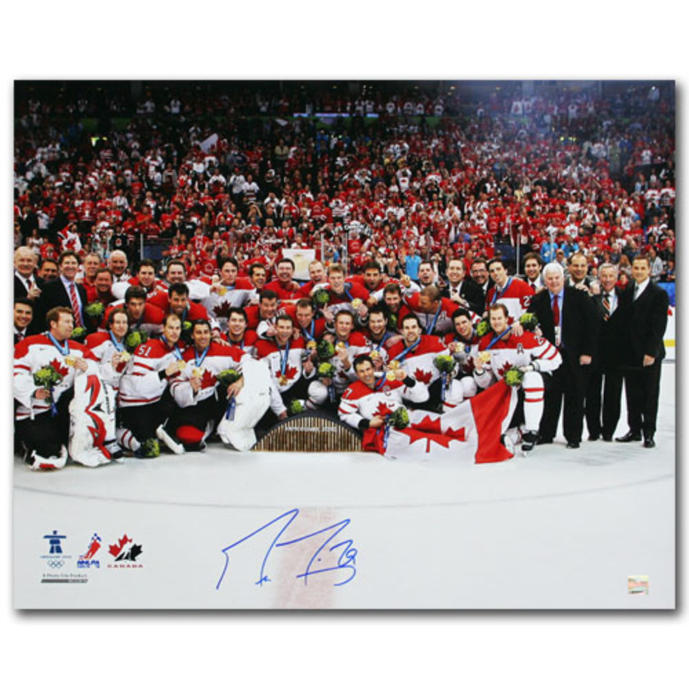 Marc-Andre Fleury (Pittsburgh Penguins) Autographed Team Canada 2010 Olympics 16X20 Photo