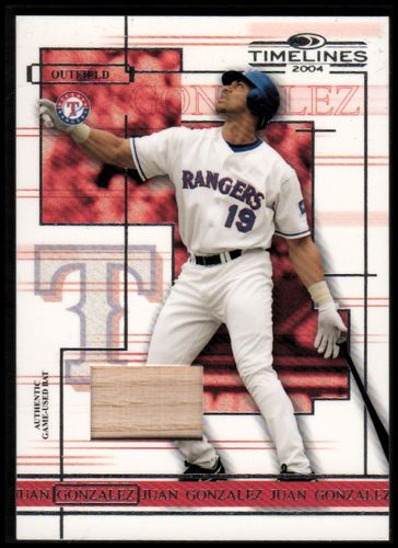 Photo of 2004 Donruss Timelines Material #26 Juan Gonzalez Bat