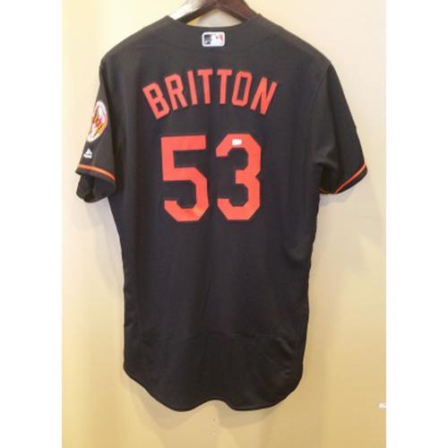 online retailer 72541 6af9c MLB Auctions | Zach Britton - Postseason Jersey: Game-Used