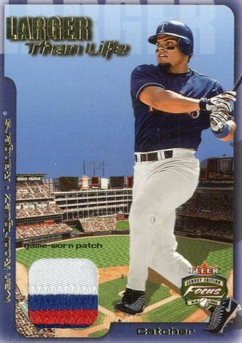 Photo of 2002 Fleer Focus JE Larger than Life Game Used Patch #4 Ivan Rodriguez