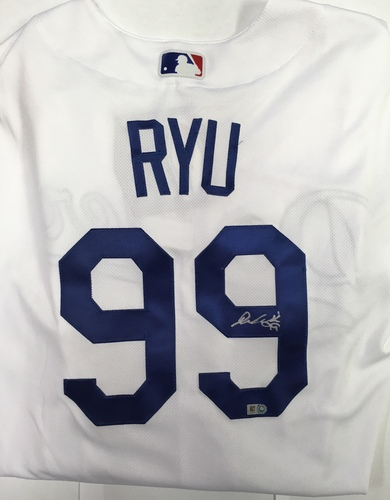 Photo of Hyun-Jin Ryu Autographed Authentic Dodgers Jersey