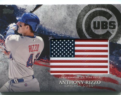 Photo of 2018 Topps Independence Day U.S. Flag Relics #IDMLAI Anthony Rizzo