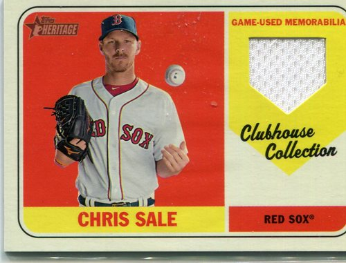 Photo of 2018 Topps Heritage Clubhouse Collection Relics #CCRCS Chris Sale