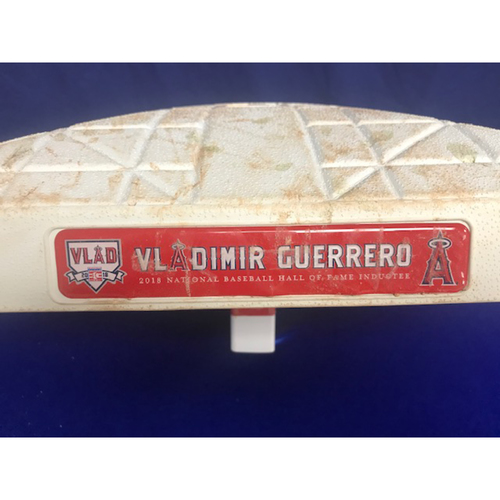 Photo of Game Used 1st Base from August 10th 2018 Vladimir Guerrero Hall of Fame Ceremony