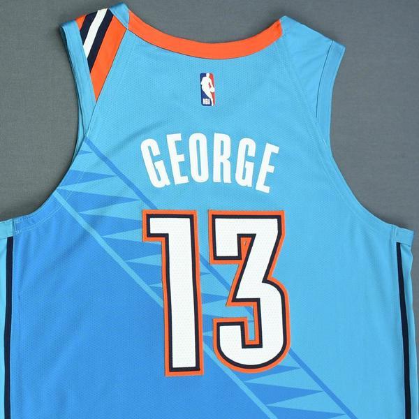 479fd7d994b Paul George - Oklahoma City Thunder - Game-Worn City Edition Jersey ...