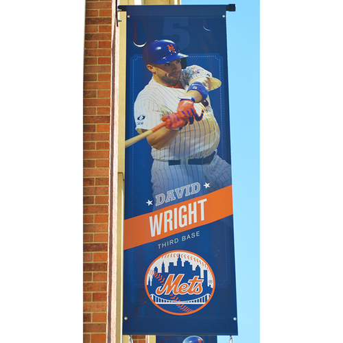 Photo of David Wright #5 - Citi Field Banner - 2015 Season