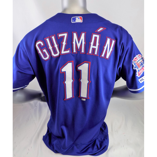 Photo of Ronald Guzman Game-Used Blue Homerun Jersey - 4/4/19 @ LAA, 6/25/19 @ DET