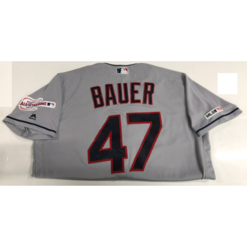 Photo of Trevor Bauer Game Used Jersey 3/30/19 (7 IP, 1 H, 9 K's)
