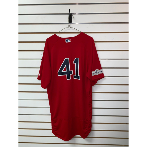 Photo of Chris Sale Team Issued 2017 Home Alternate Jersey