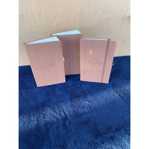 Photo of Twins Wives Holiday Fundraiser: Set of 3 Twins Woodgrain Journals (Save $10.00)