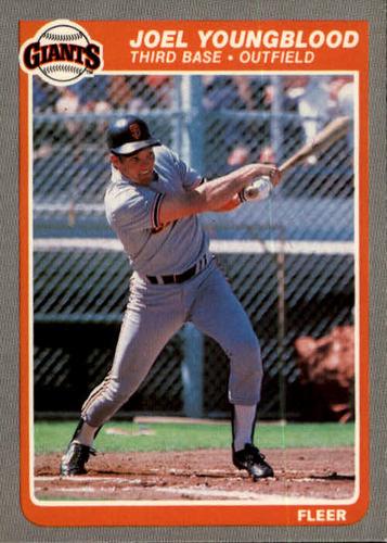 Photo of 1985 Fleer #625 Joel Youngblood