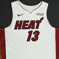 Bam Adebayo - Miami Heat - NBA Mexico Games - Game-Worn Association Edition Jersey - 2017-18 NBA Season