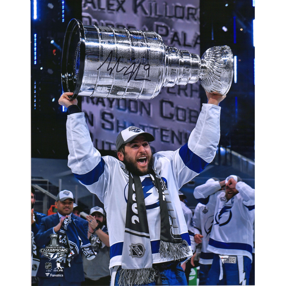Tyler Johnson Tampa Bay Lightning 2020 Stanley Cup Champions Autographed 11