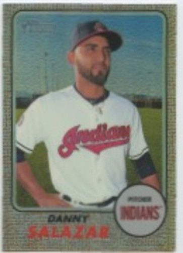 Photo of 2017 Topps Heritage Chrome Refractors #THC471 Danny Salazar