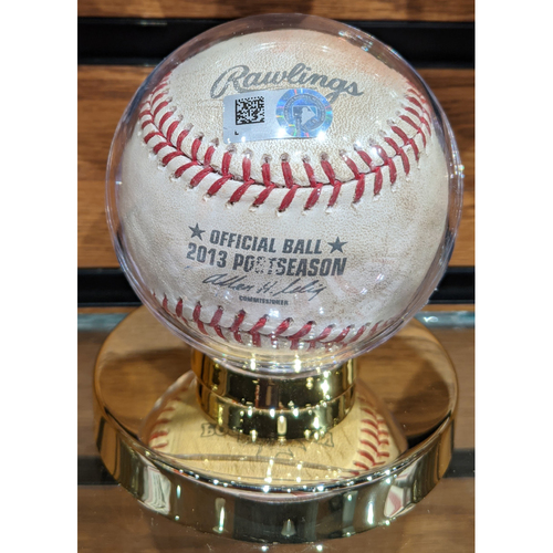 Photo of 2013 ALCS Game 1 Detroit Tigers vs. Boston Red Sox October 12, 2013 Game Used Baseball