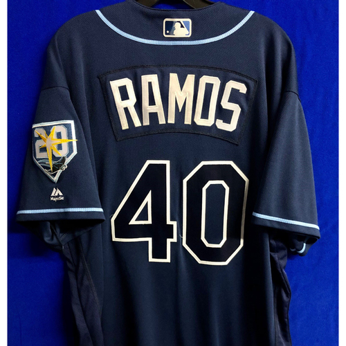 Photo of Team Issued Navy Jersey: Wilson Ramos