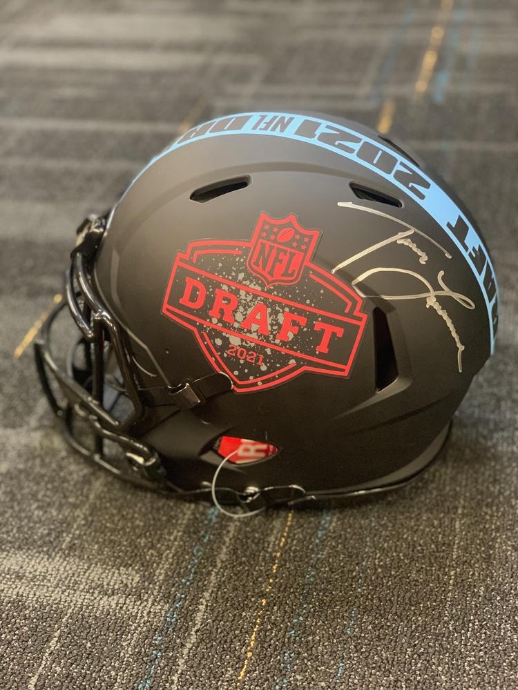Jaguars - Trevor Lawrence autographed 2021 NFL Draft Helmet