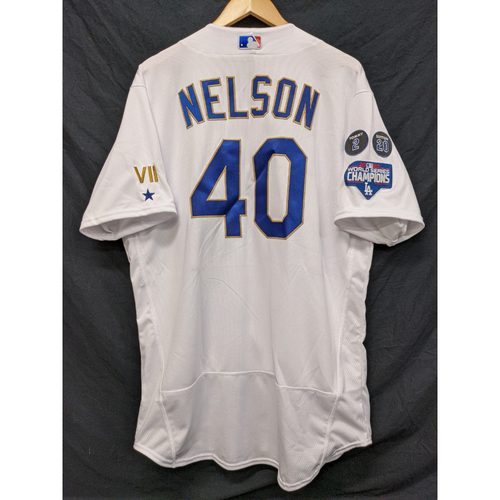 Jimmy Nelson Team-Issued Gold Trim Re-Opening Day Jersey - 6/15/21
