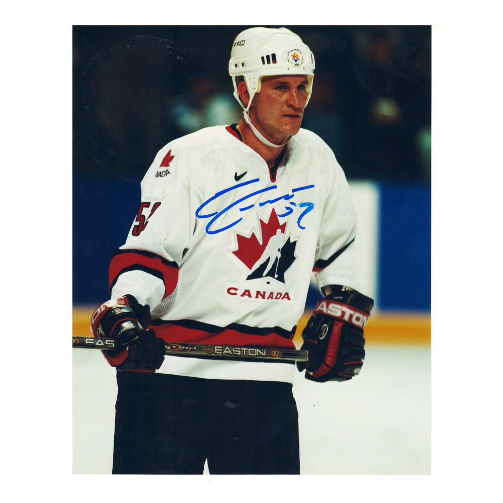 ADAM FOOTE Signed Team Canada 8 X 10 Photo - 70188