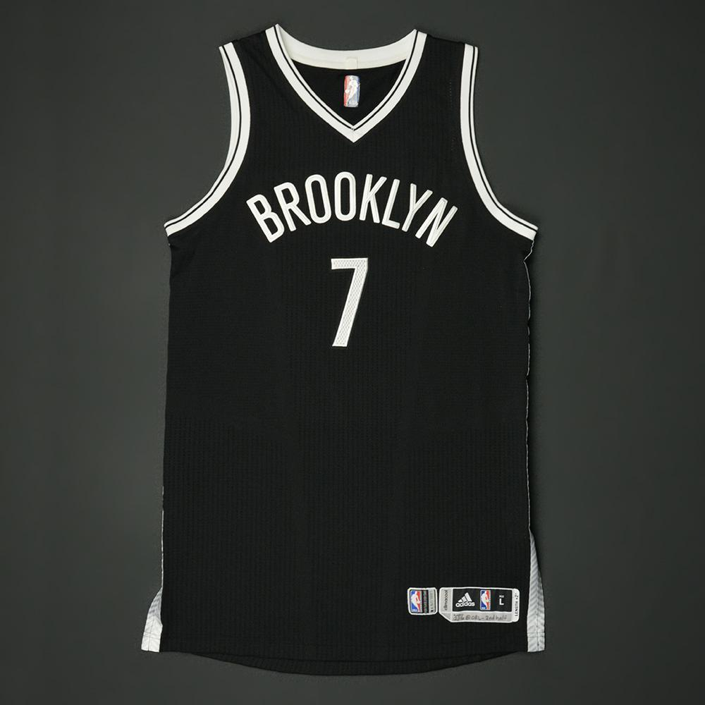 online store 84702 d8c94 Jeremy Lin - Brooklyn Nets - Game-Worn 2nd Half Only Jersey ...