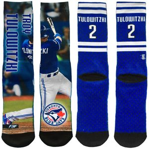 Toronto Blue Jays Field Stripe Troy Tulowitzki Socks by FBF