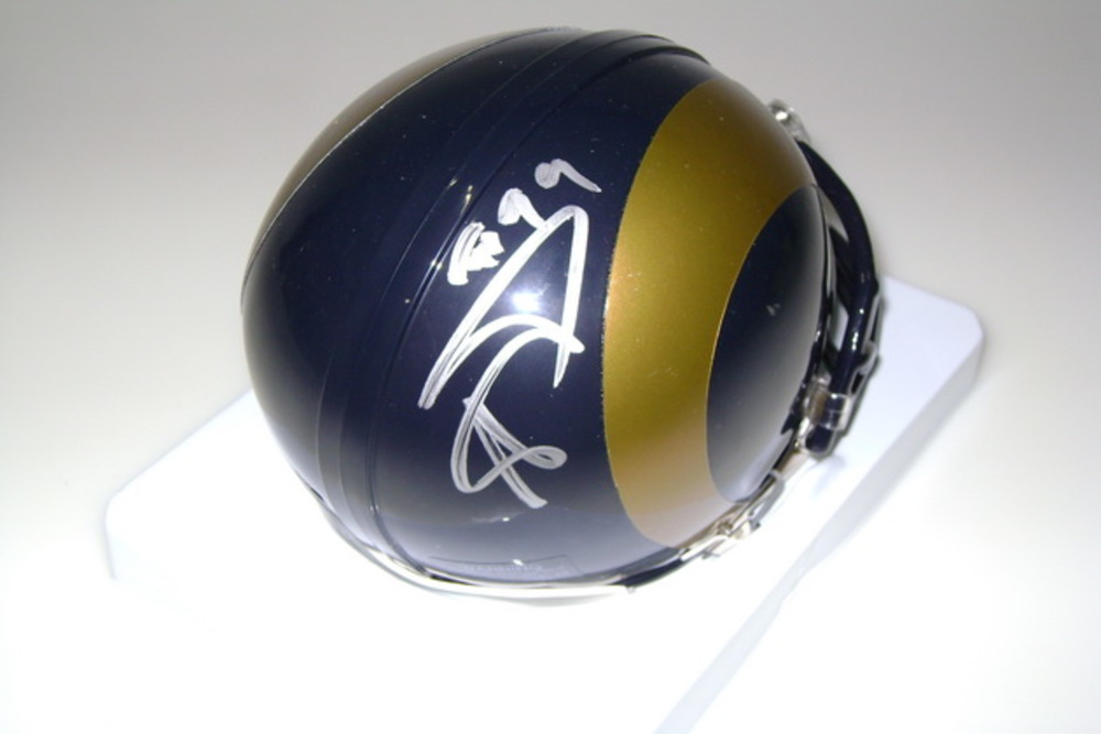 NFL - RAMS AARON DONALD SIGNED RAMS MINI HELMET