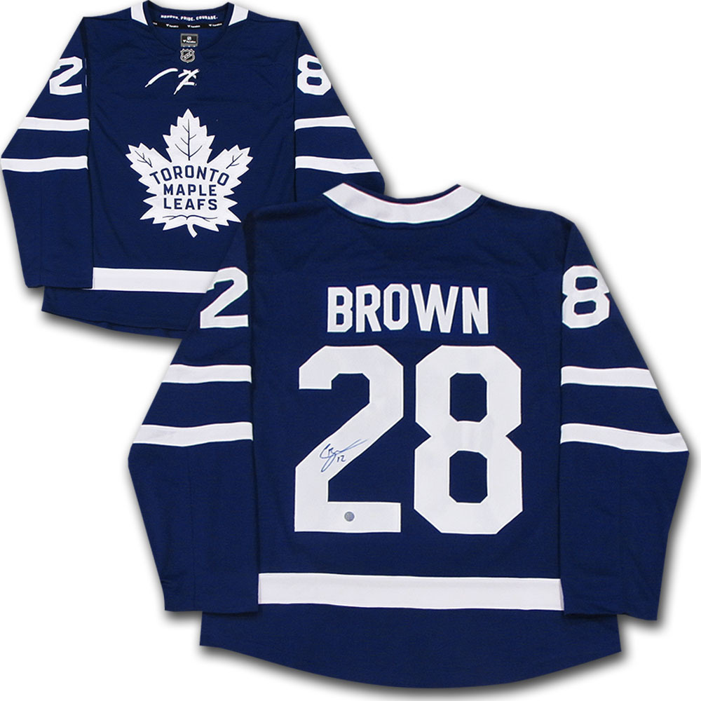 Connor Brown Autographed Toronto Maple Leafs Fanatics Jersey