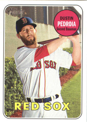 Photo of 2018 Topps Heritage #349 Dustin Pedroia