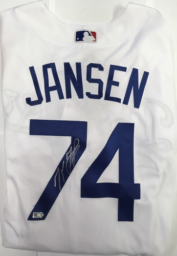 Kenley Jansen Autographed Authentic Dodgers Jersey