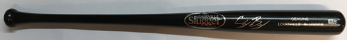 Photo of Cody Bellinger Autographed Black Louisville Slugger Bat