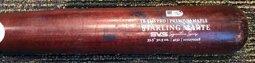 Photo of Starling Marte Model Team-Issued Broken Bat