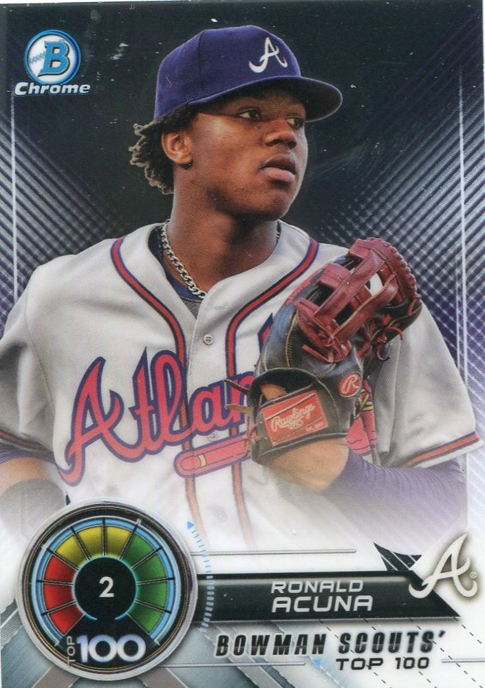 2018 Bowman Chrome Scouts Top 100 #BTP2 Ronald Acuna