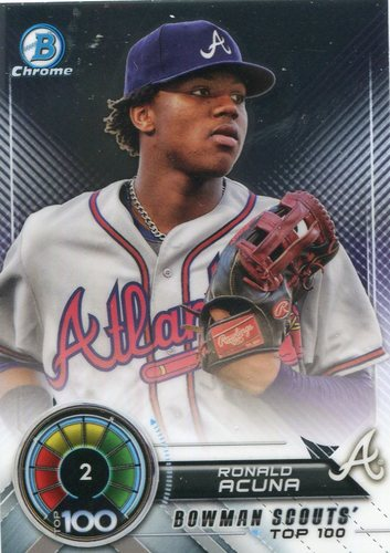 Photo of 2018 Bowman Chrome Scouts Top 100 #BTP2 Ronald Acuna