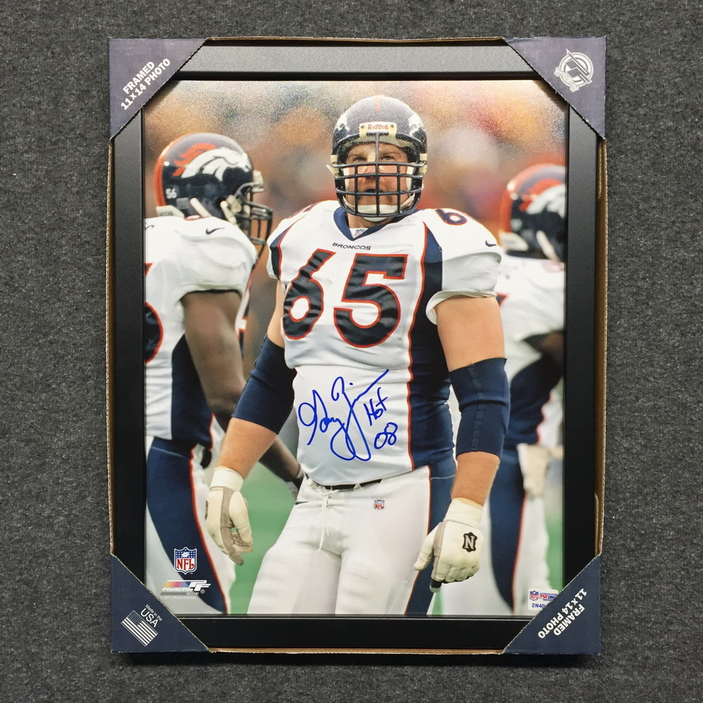 new product a5e38 f1b5e NFL Auction | HOF - BRONCOS GARY ZIMMERMAN SIGNED 11X14 ...