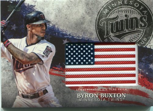 Photo of 2018 Topps Independence Day U.S. Flag Relics #IDMLBB Byron Buxton