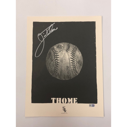 Photo of Jim Thome Autographed Artwork